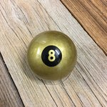 Billardkugel Eightball gold