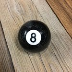 Billardkugel Eightball schwarz glitzernd